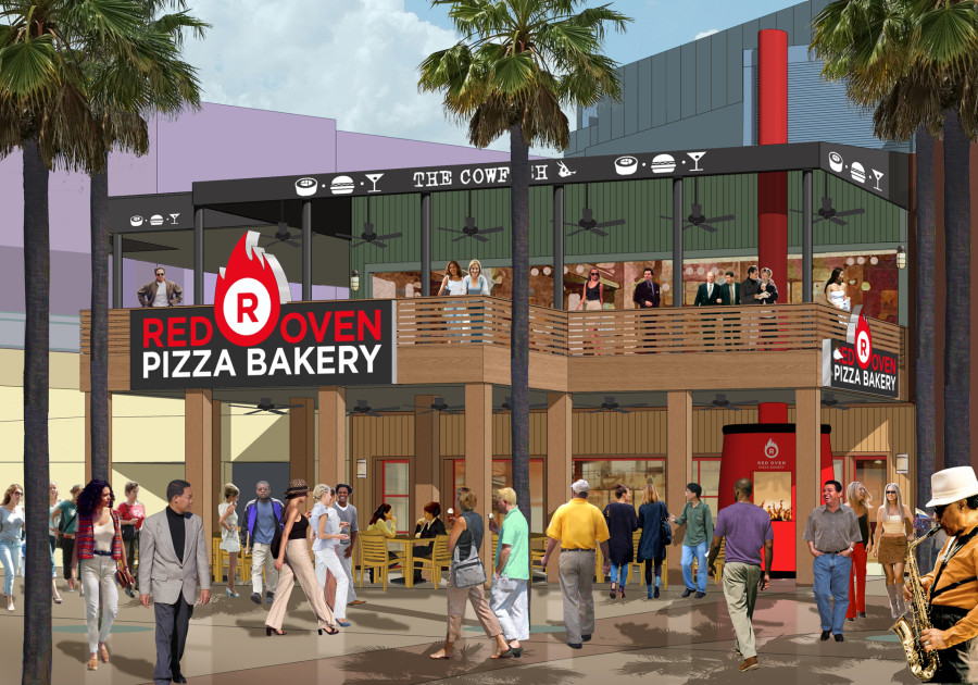Red Oven Pizza Bakery at CityWalk - Rendering