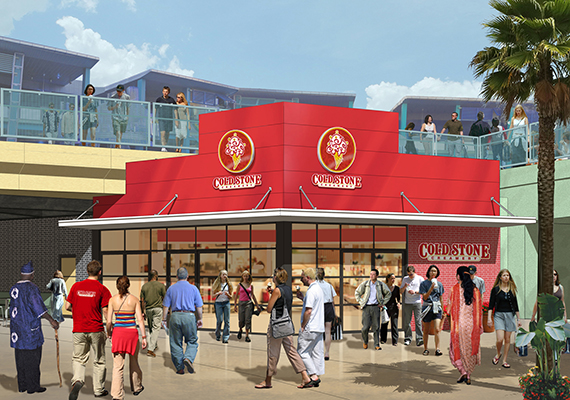 Cold Stone Creamery at CityWalk - Rendering